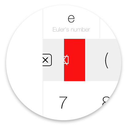Tydlig clear button